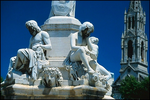 Pradier fountain in Nîmes