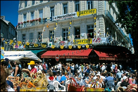 Nîmes: during the Feria days 1999